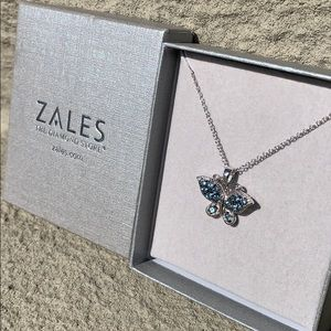 Sterling Silver Light Sapphire Butterfly Necklace